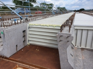ABM Diaphragm Formwork System in use with W Beams